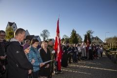 Kransenedlæggelse på kirkegården i Grindsted 04052018