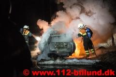 Bilbrand - rasteplads ml Hejnsvig og Donslund