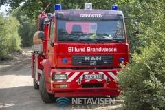 Brand i Lundgård Plantage mellem Donslund og Stenderup